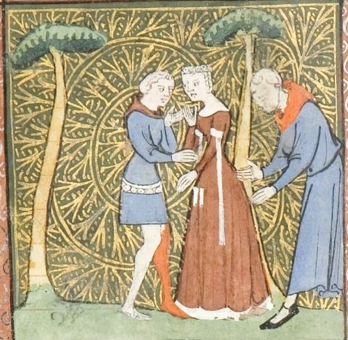 ca1365 French University of Chicago Library MS 1380- Roman de la Rose by Jean de Meun and Guillaume de Lorris