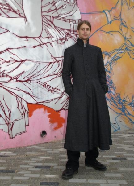 pánský kašmírový kabát ala Matrix