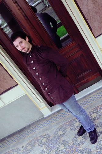 pánský kabát z jelenice