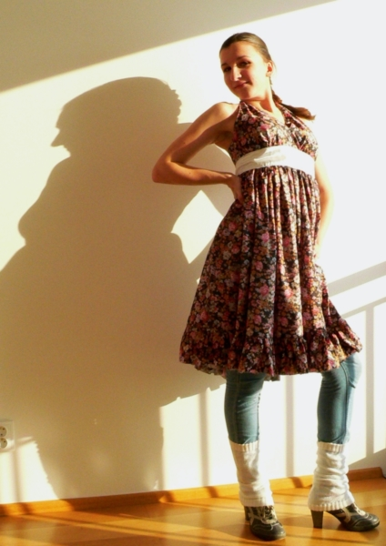 letní šaty podle střihu z burdy upraveného k lepšímu