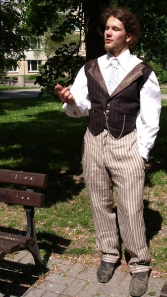 pánská sada vycházková a la viktoriánský styl
