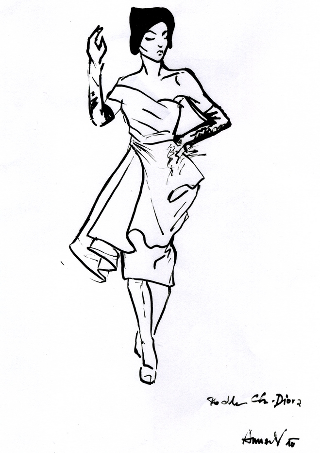 sketch dior1
